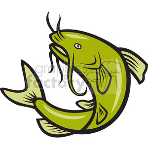 catfish jump MP clipart. Royalty-free image # 388149