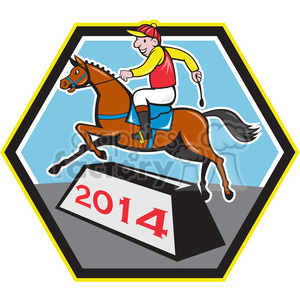 jockey ridinghorse side 2014 clipart. Royalty-free image # 388189