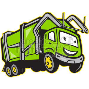 rubbish truck cartoon front clipart. Royalty-free image # 388259