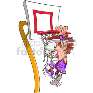 kid slam dunking a basketball clipart. Royalty-free image # 388319