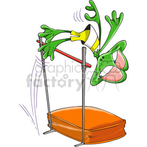 frog doing the high jump clipart. Royalty-free image # 388417