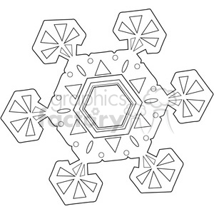 Snowflake 01 clipart. Commercial use image # 388527