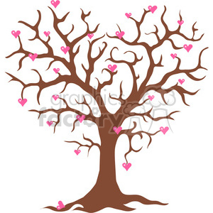 TREE Valentine clipart. Royalty-free image # 388547