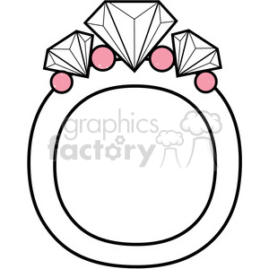 Letter O Diamond Ring clipart. Commercial use image # 388557