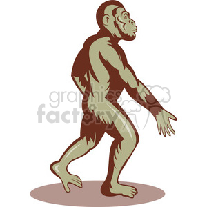 bigfoot image clipart. Royalty-free image # 388627