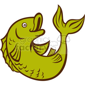 fish side view clipart. Royalty-free image # 388637