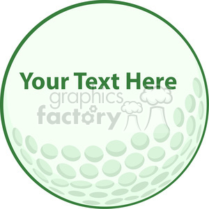 5691 Royalty Free Clip Art Green Golf Ball Sign clipart. Royalty-free image # 388799