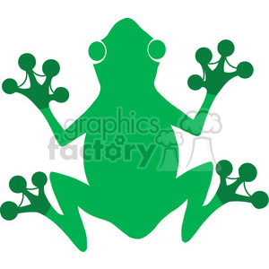 5642 Royalty Free Clip Art Gree Frog Silhouette Logo clipart. Royalty-free image # 388818