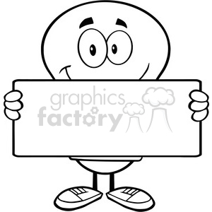 6022 Royalty Free Clip Art Light Bulb Cartoon Mascot Character Holding A Banner clipart. Royalty-free image # 389129