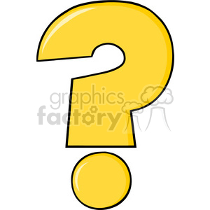 6248 Royalty Free Clip Art Cartoon Yellow Question Mark clipart. Royalty-free icon # 389299