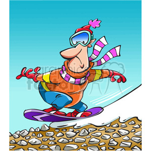 cartoon snowboarder clipart. Royalty-free image # 389794