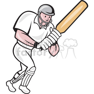 cricket batsman batting frnt side clipart. Royalty-free image # 389904