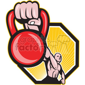 kettle bell hand strong man clipart. Royalty-free image # 390015