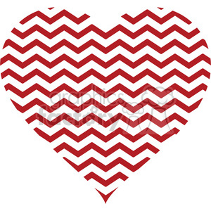 chevron design pattern heart RG