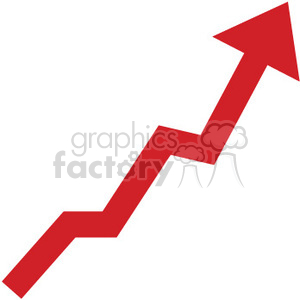 red graph  going up
