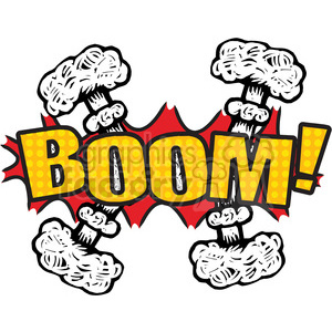 boom explosion onomatopoeia clip art vector images clipart. Royalty-free image # 390065