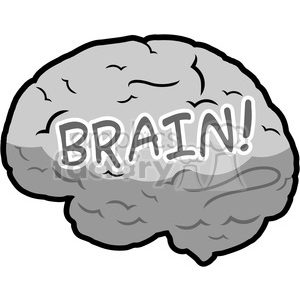 human brain illustration clipart. Royalty-free image # 390075