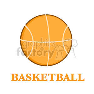Royalty Free RF Clipart Illustration Abstract Basketball Over A White Background With Text Flat Design clipart. Royalty-free image # 390095