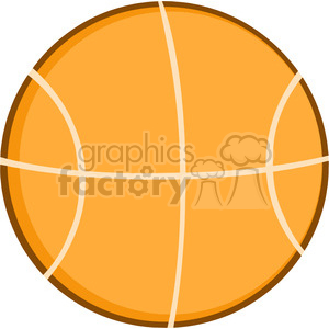 Royalty Free RF Clipart Illustration Abstract Basketball Flat Design clipart. Commercial use image # 390215