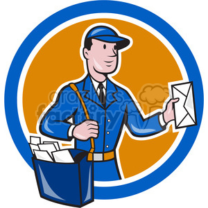 mailman mailbag deliver CIRC animation. Royalty-free animation # 390377