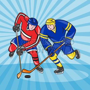 ice hockey players clipart. Commercial use image # 390397
