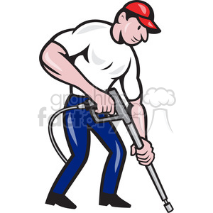 water blaster pressure washing side clipart. Commercial use image # 390407