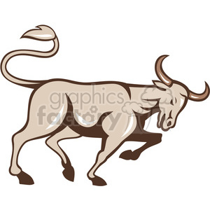 bull standing leg up side clipart. Royalty-free image # 390429