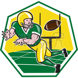 american football wide receiver catch ball clipart. Commercial use image # 390485