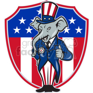 elephant republican giving thumbs up clipart. Commercial use image # 391353