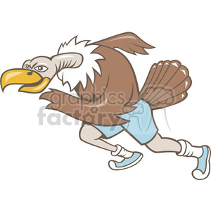 cartoon character mascot people funny vulture run runner running animal bird race racing sprint