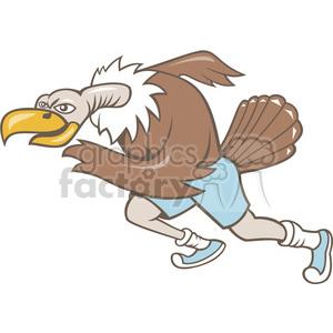 vulture runner running mascot photo. Royalty-free photo # 391413