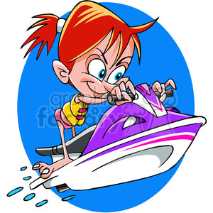 girl on a jet ski summer fun clipart. Royalty-free image # 391474