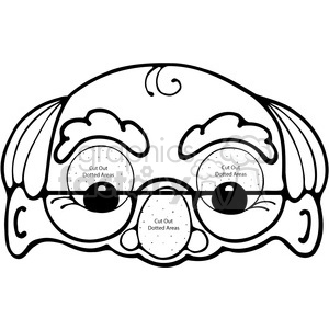 Grandpa Mask clipart. Royalty-free image # 391544