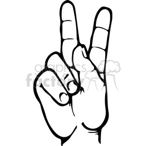 sign language letter K clipart. Royalty-free image # 167499