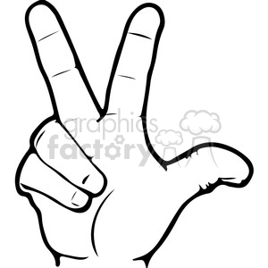 ASL sign language 3 clipart illustration clipart. Royalty-free image # 391654