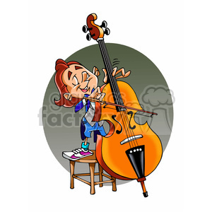 child Viola musician cartoon  clipart. Royalty-free image # 391679