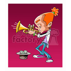 Street Music cartoon caricature clipart. Royalty-free image # 391719