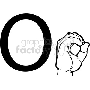 ASL sign language O clipart illustration worksheet clipart. Royalty-free image # 392321