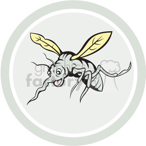 mosquito front view in circle shape clipart. Commercial use image # 392371