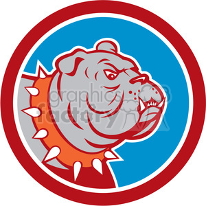 bulldog head in circle shape clipart. Commercial use image # 392391