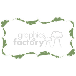green floral frame swirls boutique design border 9 clipart. Royalty-free image # 392456