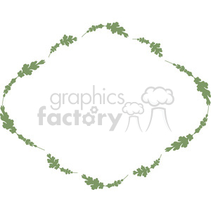green floral frame swirls boutique design border 7 clipart. Royalty-free image # 392461