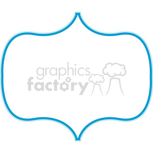 blue lines frame swirls boutique design border 6 clipart. Royalty-free image # 392479