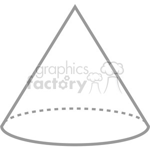 geometry cone math symbol clip art graphics images clipart. Royalty-free image # 392526