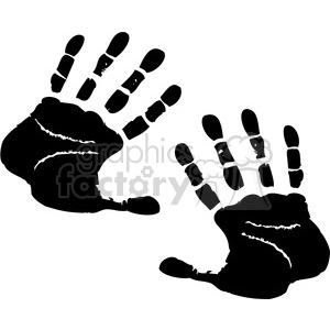 handprints clipart. Royalty-free image # 379599