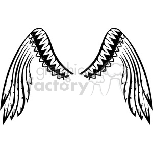 feather wing tattoo clipart. Royalty-free image # 392689