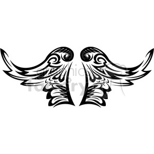 vinyl ready vector wing tattoo design 009 clipart. Royalty-free image # 392699