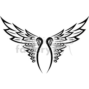 vinyl ready vector wing tattoo design 018 clipart. Commercial use image # 392709