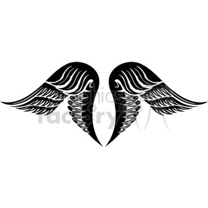 vinyl ready vector wing tattoo design 032