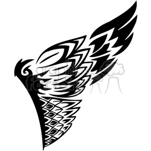 vinyl ready vector wing tattoo design 082 clipart. Royalty-free image # 392749